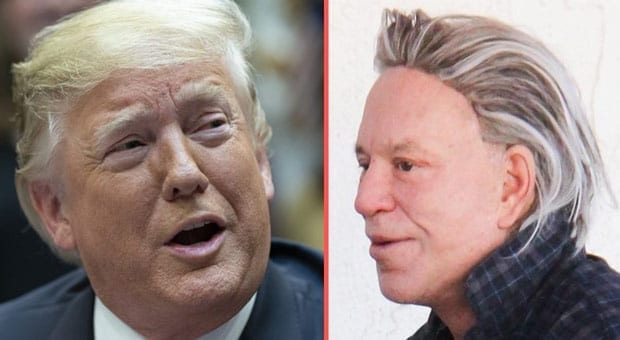 Mickey Rourke Threatens Trump: 'I'll Give Him a Left Hook ...