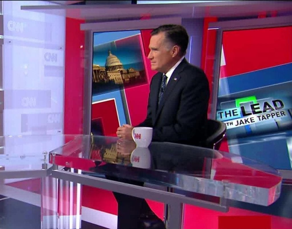 Watch: Romney Uses MSNBC & CNN To Continue To Meddle In Impeachment Trial