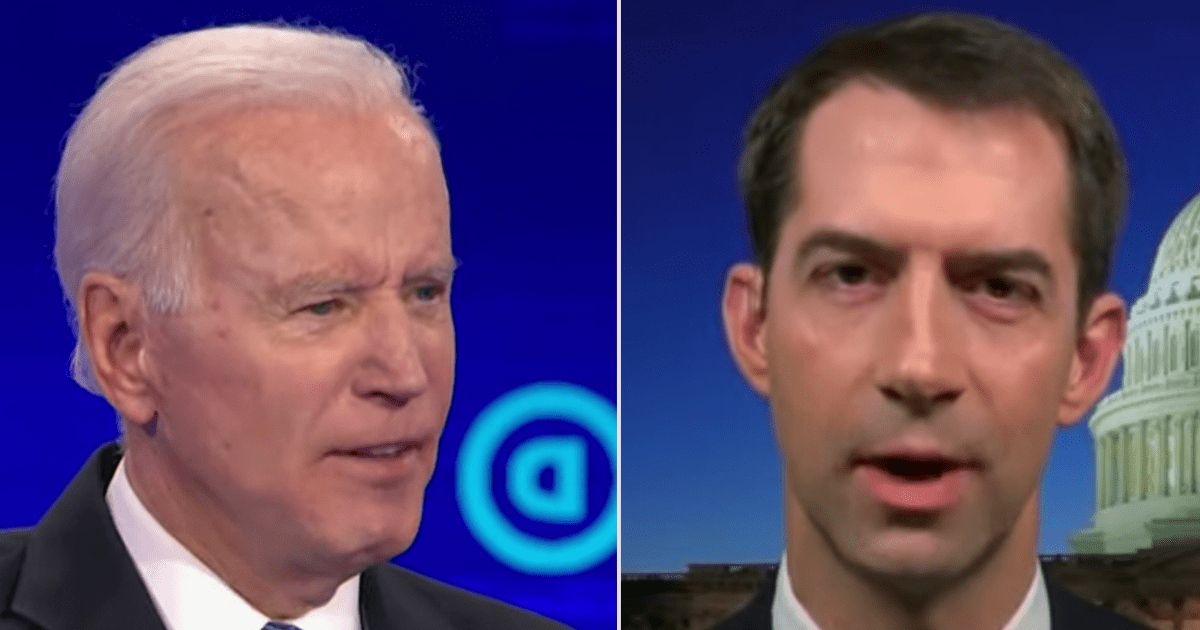 WATCH: Tom Cotton says the world is laughing at Biden