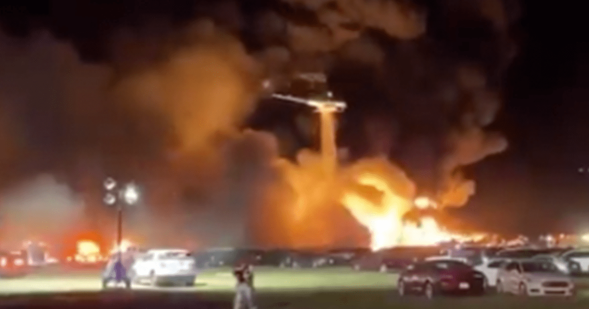VIDEO: Fire at Florida Airport, Thousands of Rental Cars Damaged ...