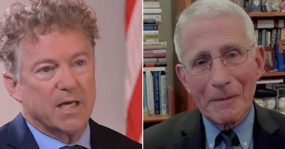 BREAKING: Rand Paul follows through on promise, sends criminal referral to DOJ saying Fauci lied
