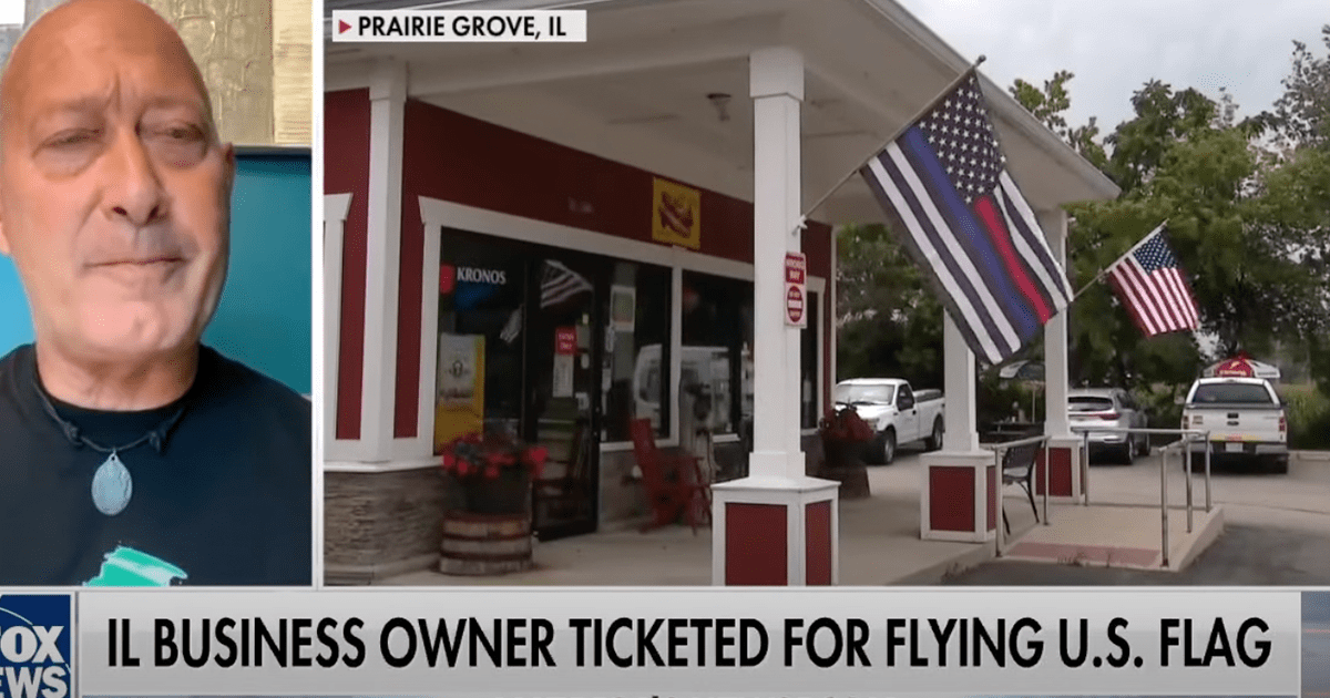 WATCH: Illinois Business Owner ticketed for flying U.S. Flag speaks out