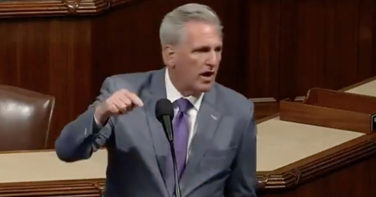 """WATCH: McCarthy rails against Dems """"They wanna mandate, they wanna impose, they wanna tell you when you can go to school, when you can eat"""""""