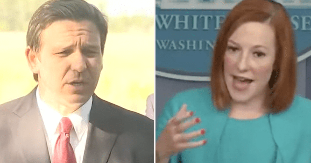 """WATCH: Psaki scolds DeSantis """"If you aren't going to abide by public health guidance, then get out of the way"""""""