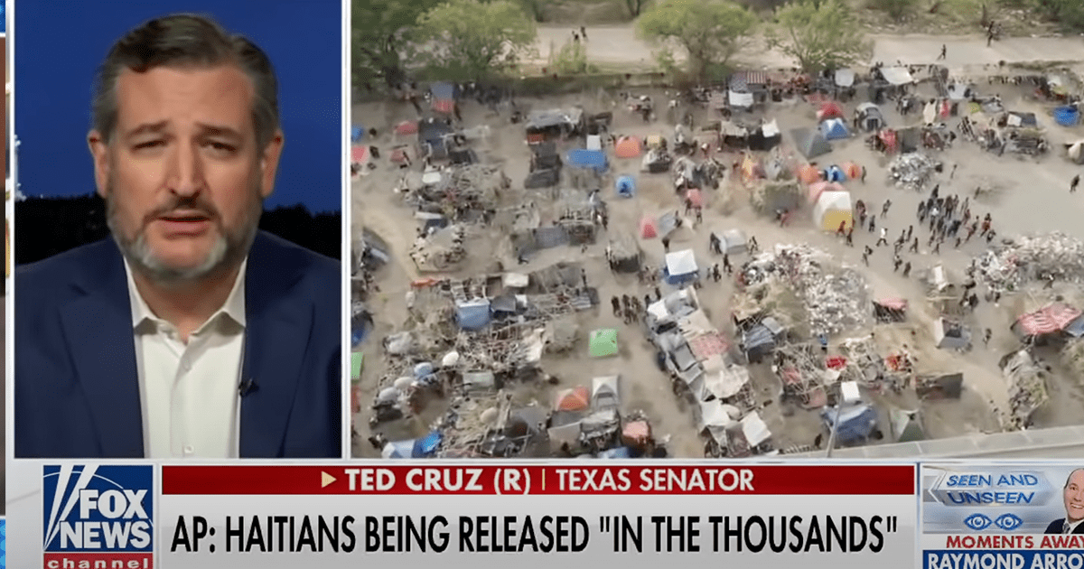 WATCH: Cruz reacts to report thousands of Haitians were released in the U.S.