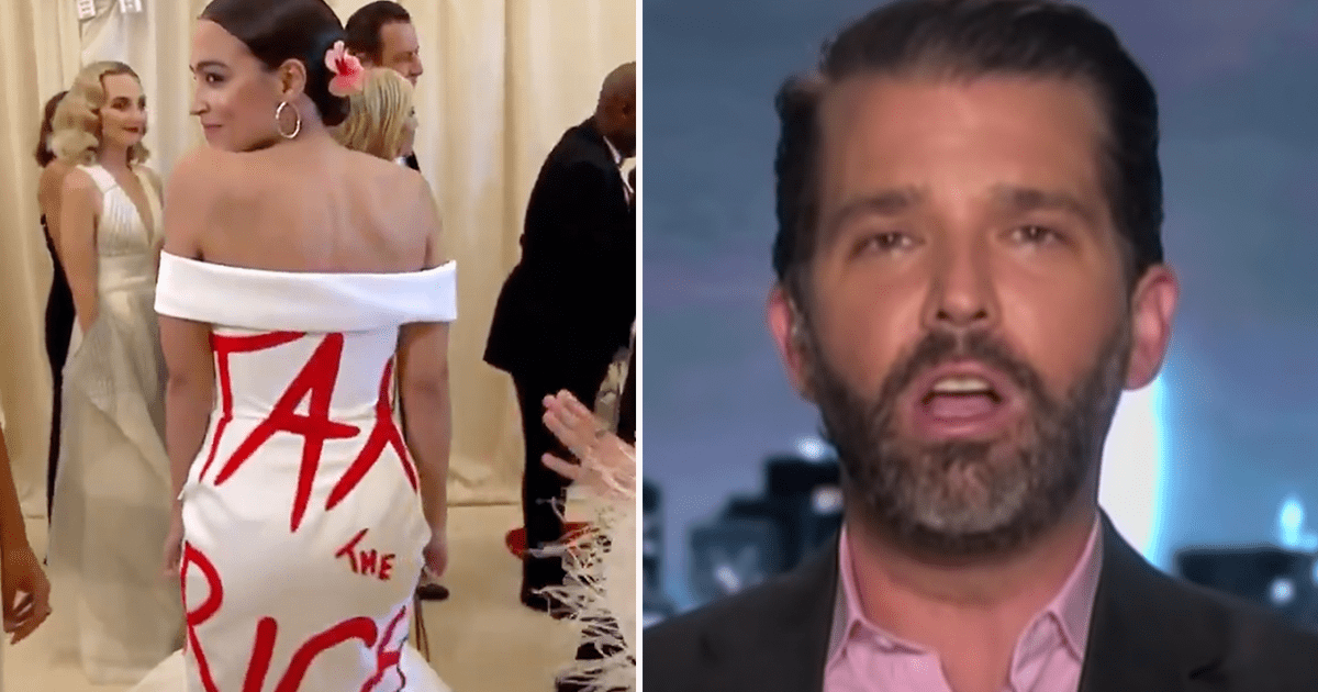 """Don Jr. reacts to AOC's """"Tax the Rich"""" dress, asks """"What makes AOC a bigger fraud?"""""""