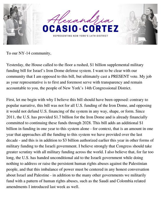 """AOC explains why she was weeping after changing her vote on Israel's """"Iron Dome"""" funding"""