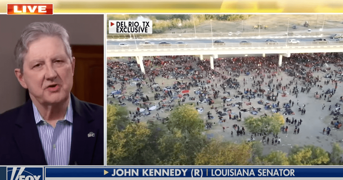 Sen. Kennedy says the Biden admin is lying on immigration as number of migrants under TX bridge doubles in day