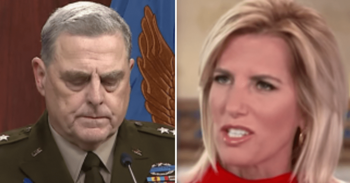 """Ingraham """"If Woodward is accurate, General Milley conspired against President Trump"""""""