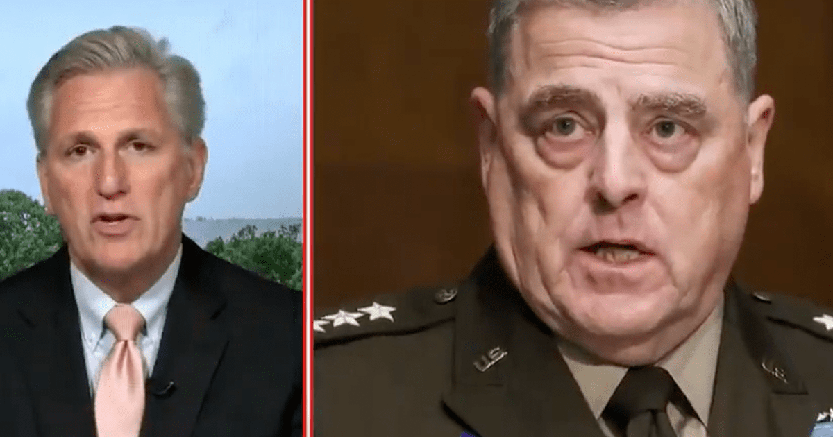 """WATCH: McCarthy blasts Milley """"we need to get to the bottom of all of this"""""""