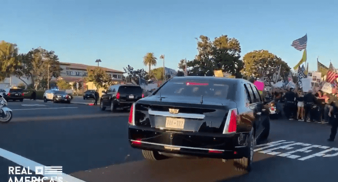 Watch: Biden Doesn't Get The Welcome He Hoped For, Trolled Before Newsom Rally