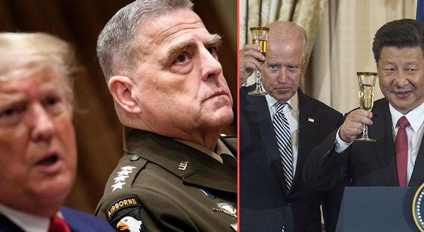 joe biden says he has  great confident in general milley  despite his colluding with china