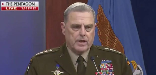 BREAKING REPORT: General Milley went behind Trump's back to assure the Chinese he'd WARN them if Trump decided to attack